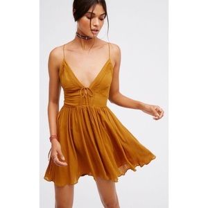 Free People First Love Fit + Flare Slip Dress NWOT
